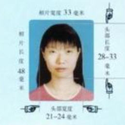 Chinese Passport Photo sample