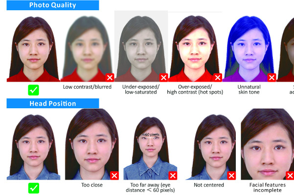 China Visa photo samples