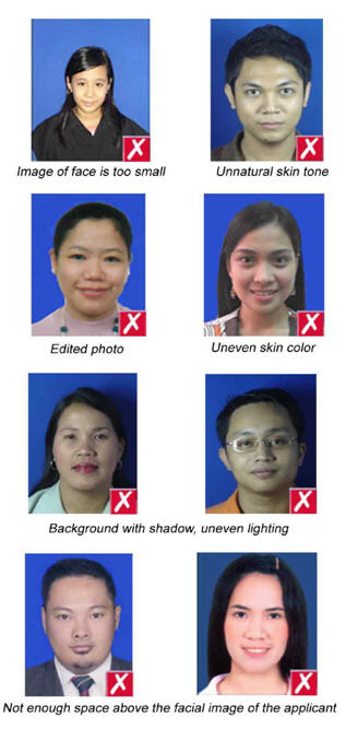 Order Philippines passport/PRC Professional Regulation Commission Photos